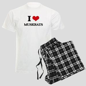 I love Muskrats Men's Light Pajamas