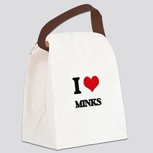 I love Minks Canvas Lunch Bag
