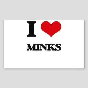 I love Minks Sticker