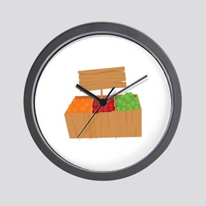 Vegetable Stand Wall Clock