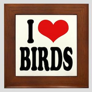 I Love Birds Framed Tile