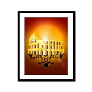 The Colosseum Framed Panel Print
