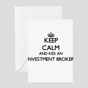 Keep calm and kiss an Investment Br Greeting Cards
