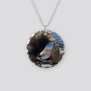 Dad and Baby Sealion Necklace