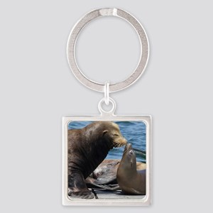 Dad and Baby Sealion Keychains