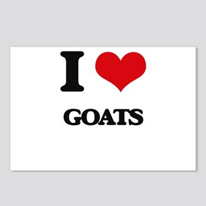 I love Goats Postcards (Package of 8)