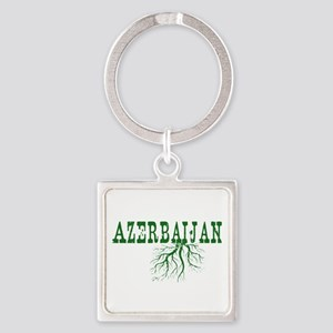 Azerbaijan Roots Square Keychain