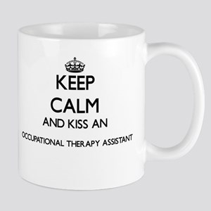 Keep calm and kiss an Occupational Therapy As Mugs
