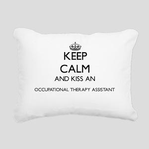 Keep calm and kiss an Oc Rectangular Canvas Pillow