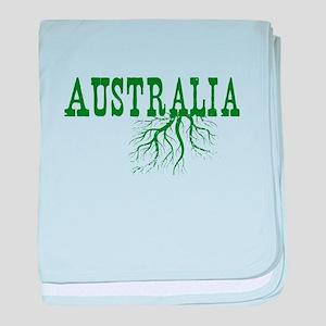 Australia Roots baby blanket
