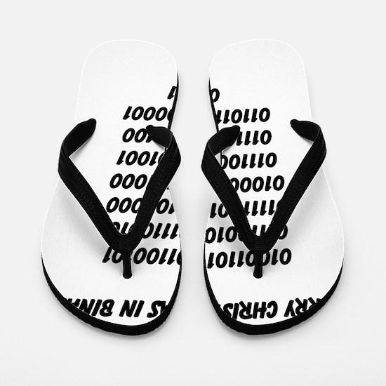 Merry Christmas in binary Flip Flops
