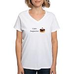 Cake Inspector Women's V-Neck T-Shirt