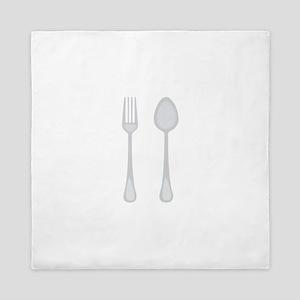 Fork & Spoon Queen Duvet