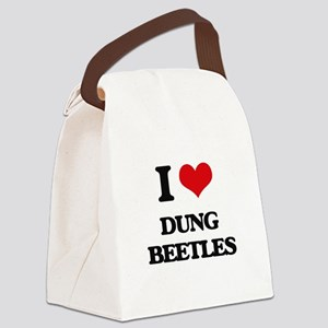 I love Dung Beetles Canvas Lunch Bag