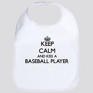 Keep calm and kiss a Baseball Player Bib
