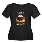 Cake Art Women's Plus Size Scoop Neck Dark T-Shirt