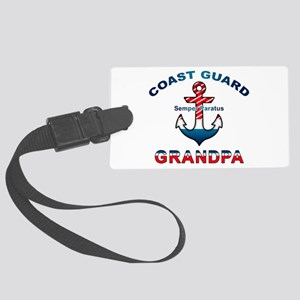 Coast Guard Grandpa Luggage Tag