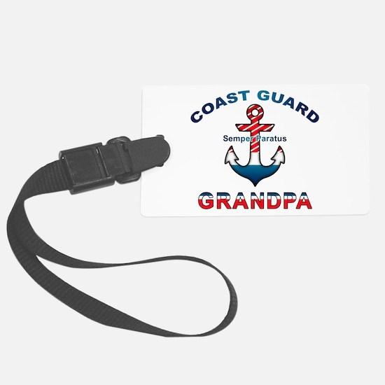 Coast Guard Grandpa Luggage Tag