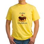 Cake Goddess Yellow T-Shirt