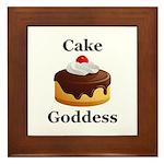 Cake Goddess Framed Tile