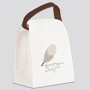 Dearly Noted Canvas Lunch Bag