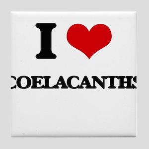 I love Coelacanths Tile Coaster