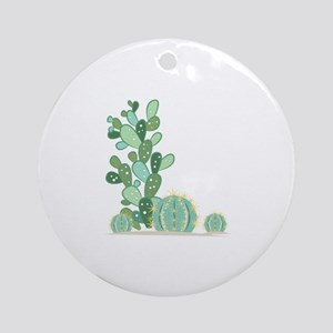 Cactus Plants Ornament (Round)