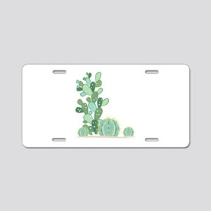 Cactus Plants Aluminum License Plate