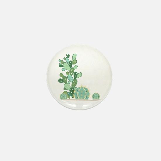 Cactus Plants Mini Button
