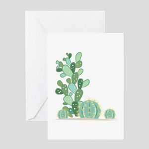 Cactus Plants Greeting Cards