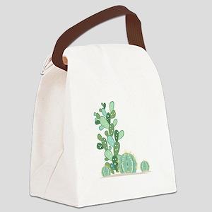 Cactus Plants Canvas Lunch Bag
