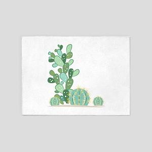 Cactus Plants 5'x7'Area Rug