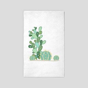 Cactus Plants Area Rug