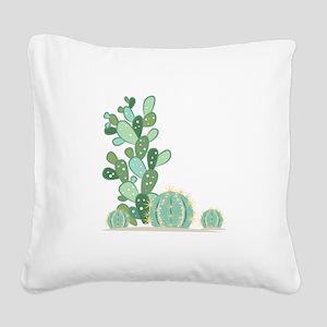 Cactus Plants Square Canvas Pillow