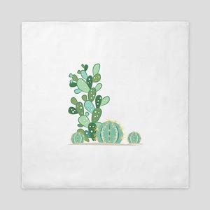 Cactus Plants Queen Duvet