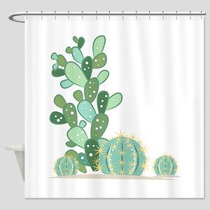 Cactus Plants Shower Curtain