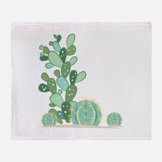 Cactus Plants Throw Blanket