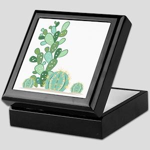 Cactus Plants Keepsake Box