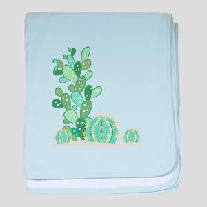 Cactus Plants baby blanket