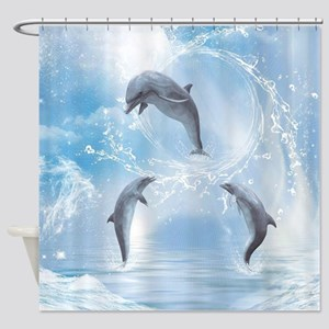 The Dreams Of Dolphins Shower Curtain