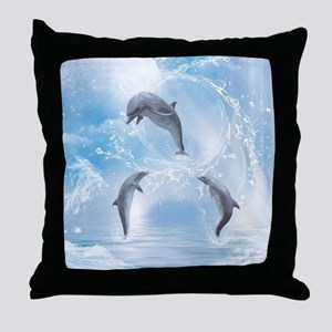 The Dreams Of Dolphins Throw Pillow