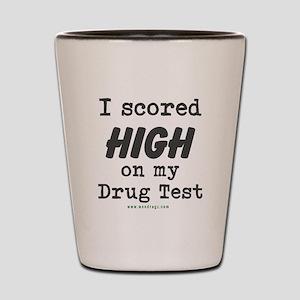 Scored High Shot Glass
