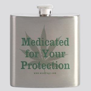 Medicated For Your Protection Flask