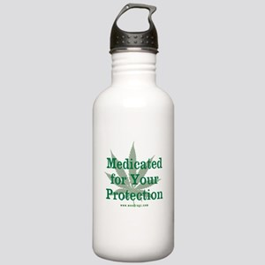Medicated For Your Protection Water Bottle