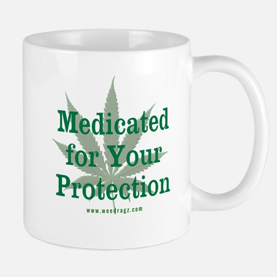 Medicated For Your Protection Mugs