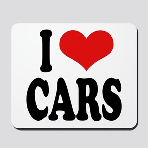 I Love Cars Mousepad