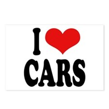 I Love Cars Postcards (Package of 8)