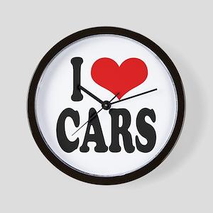 I Love Cars Wall Clock
