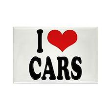 I Love Cars Rectangle Magnet