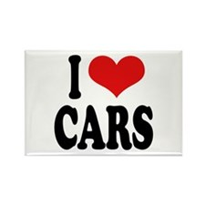 I Love Cars Rectangle Magnet